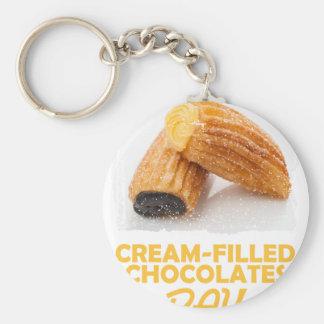 Cream-Filled Chocolates Day  - Appreciation Day Keychain