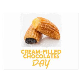 Cream-Filled Chocolates Day  - Appreciation Day Postcard