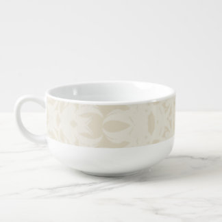 Cream Fleury Soup Mug