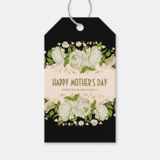 Cream Floral Happy Mother's Day Gift Tag