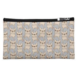 Cream French Bulldog Cosmetic Bags
