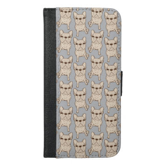 Cream French Bulldog iPhone 6/6s Plus Wallet Case