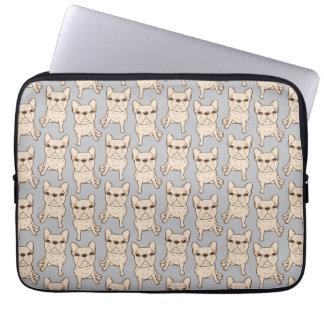 Cream French Bulldog Laptop Sleeve