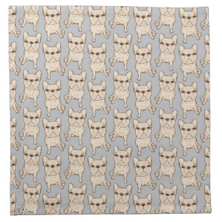 Cream French Bulldog Napkin