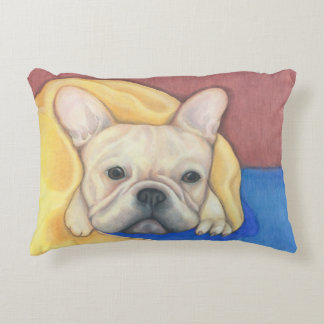 Cream French Bulldog pillow