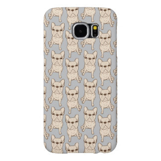 Cream French Bulldog Samsung Galaxy S6 Cases