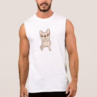 Cream French Bulldog Sleeveless Shirt