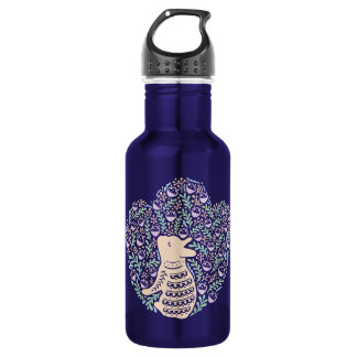 Cream Frenchie and the Spring foliage 532 Ml Water Bottle