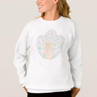 Cream Frenchie and the Spring foliage Sweatshirt