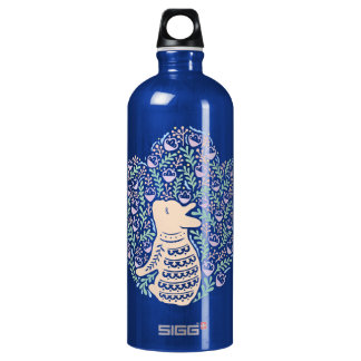 Cream Frenchie and the Spring foliage Water Bottle