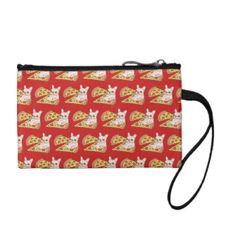 Cream Frenchie invites you to her pizza party Coin Purse