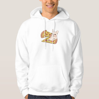 Cream Frenchie invites you to her pizza party Hoodie