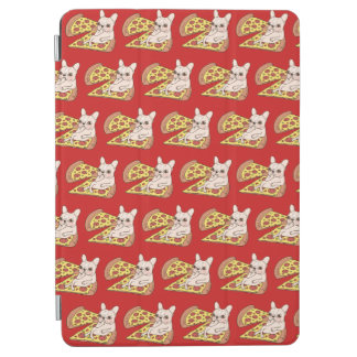 Cream Frenchie invites you to her pizza party iPad Air Cover