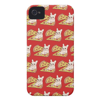 Cream Frenchie invites you to her pizza party iPhone 4 Cover