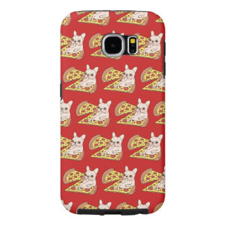 Cream Frenchie invites you to her pizza party Samsung Galaxy S6 Cases