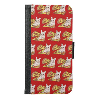 Cream Frenchie invites you to her pizza party Samsung Galaxy S6 Wallet Case