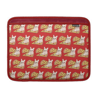 Cream Frenchie invites you to her pizza party Sleeve For MacBook Air