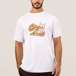 Cream Frenchie invites you to her pizza party T-Shirt