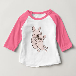 Cream Frenchie tells her you mother she loves her Baby T-Shirt