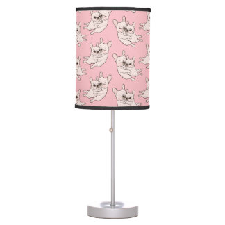 Cream Frenchie tells her you mother she loves her Table Lamp