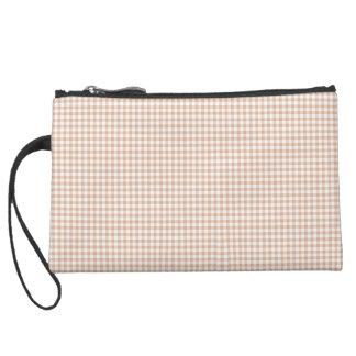 Cream-Gingham-Classic-Sueded & Multi Bag's Suede Wristlet