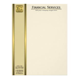 Cream Gold Plate Accountant Business Letterhead