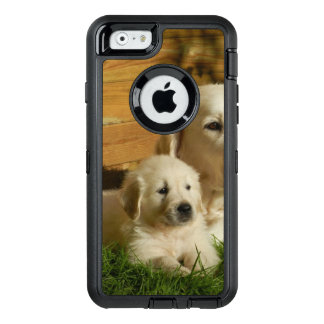 Cream Golden Retriever Puppy OtterBox Defender iPhone Case