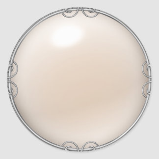 Cream Jeweled Pearl Stickers