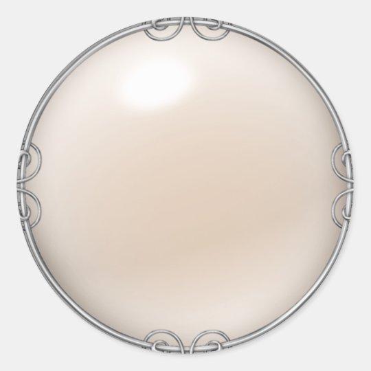 Cream Jewelled Pearl Stickers