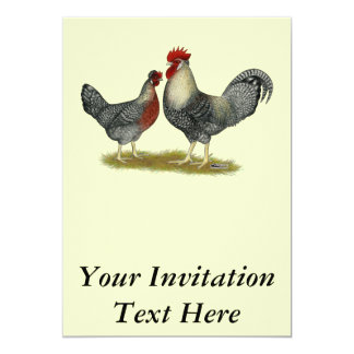 Cream Legbar Chickens Custom Invite