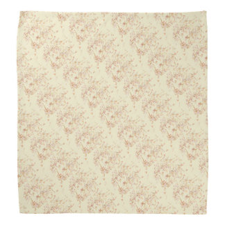 Cream Lion's Head Patterned Head Kerchiefs