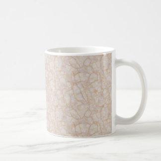 Cream marble print mug