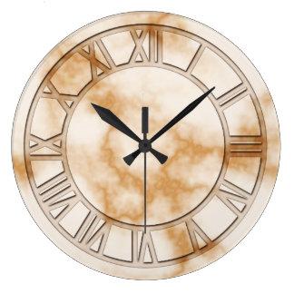 Cream Marble Print Wall Clock