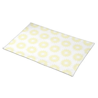 Cream Modern Sunbursts Placemat