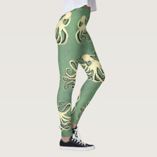 Cream Octopus With Shadow - Leggings