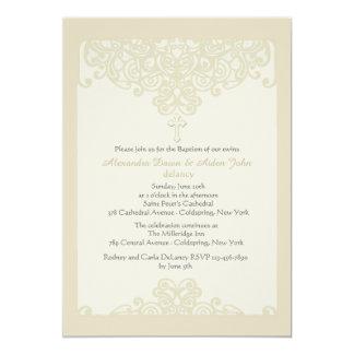 Cream Ornamental Religious Invitation