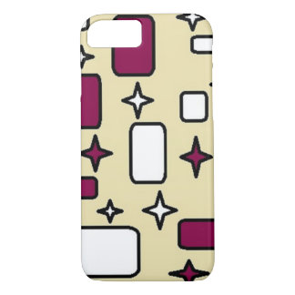 cream pattern Apple iPhone 7, Barely There Case-Mate iPhone Case