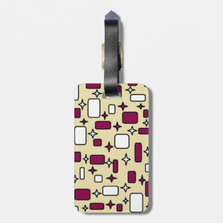 cream pattern luggage tag