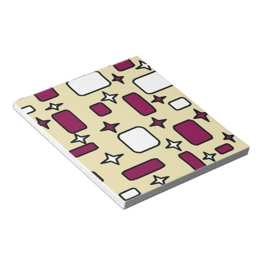 cream pattern notepad