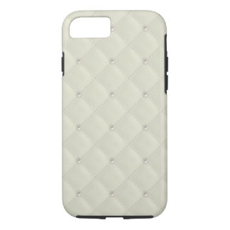 Cream Pearl Stud Quilted iPhone 8/7 Case