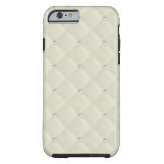 Cream Pearl Stud Quilted Tough iPhone 6 Case