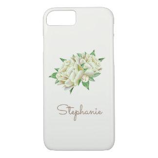 Cream Peonies Pretty Watercolor iPhone 8/7 Case