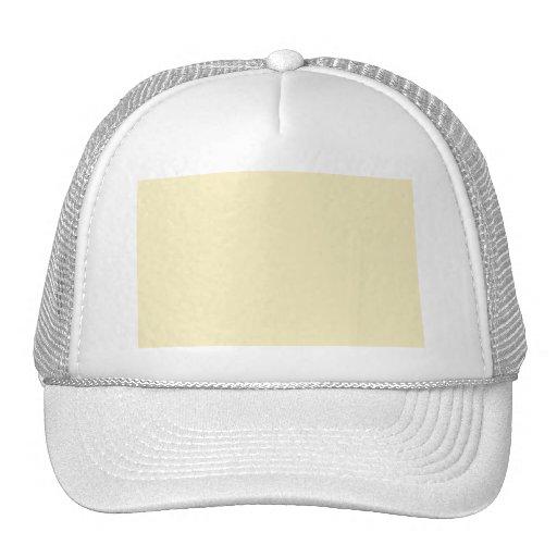 Cream plain hats