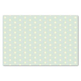 Cream Polka-Dots on grey blue ground Tissue Paper