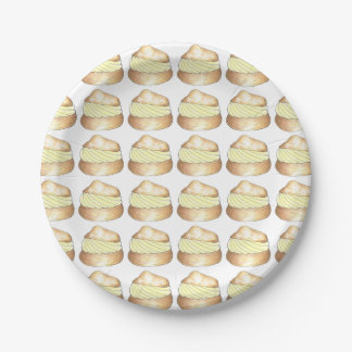 Cream Puff Puffs Creampuff Dessert Foodie Plates 7 Inch Paper Plate
