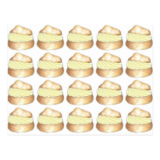 Cream Puff Puffs French Pastry Foodie Postcard