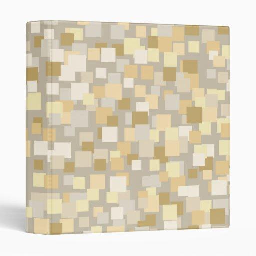 Cream Retro Squares Binder