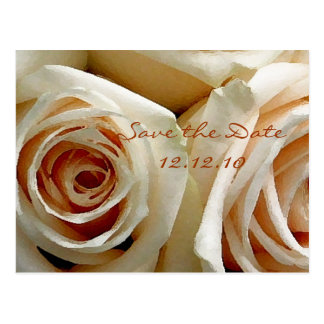 Cream Rose Bouquet - Save the Date Card