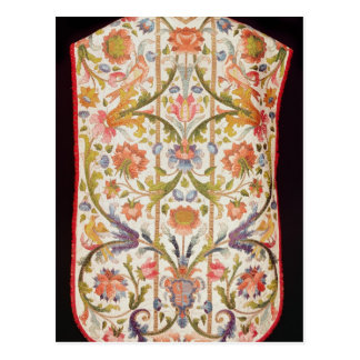 Cream satin chasuble, Naples, late 17th century Postcard