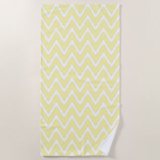 Cream Southern Cottage Chevrons Beach Towel